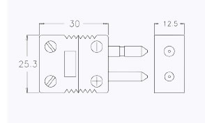 compensated connectors for thermocouples