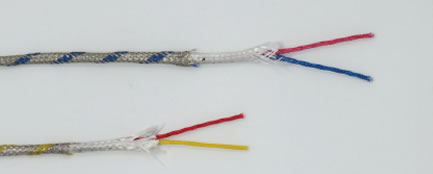 Glass braid insulated cables